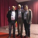 Con Fermin y Valentin de AMPOS en el Congreso Nacional de Enfermedades en Músicos. Alcira 12 Marzo 17