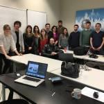 Con Alumnos del Katarina, 16-17